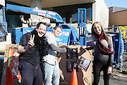"""l to r: Randy Spears, Andrew Applebaum, Dana D. Dinato at Shred Your Ex and Shred Chris Brown CDs and Posters for Pre-Valentines Day Bash held at WBLI Studios in West Babylon, Long Island on February 13, 2009..""""Shred Your Ex"""" party the day before Valentines Day. Radio Station WBLI has invited members of Rihanna's Fan Club and other fans across the nation to join the pop star's side along with .others who are """"unlucky in love.""""."""