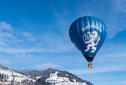 05.02.2018, Zell am See - Kaprun, AUT, BalloonAlps, im Bild ein Heissluftballon in der Luft // a hot-air balloon in the air during the International Balloonalps Alps Crossing Event, Zell am See Kaprun, Austria on 2018/02/05. EXPA Pictures © 2018, PhotoCredit: EXPA/ JFK