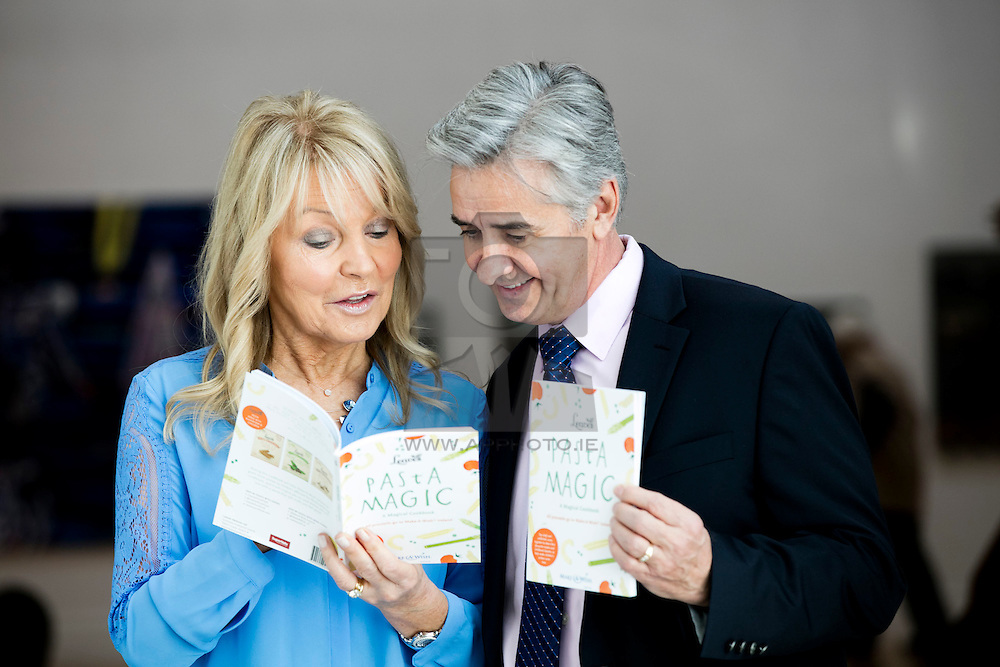 Repro Free:<br />Irish pasta company, Leaves Pure Food and celebrity chefs, broadcasters, journalists, business and opinion leaders are pictured at the launch of new cookbook Pasta Magic to raise funds and awareness for the Make-A-Wish Foundation Ireland.  More than a cookbook the publication features a childhood wish or dream each contributor had as a child. Pictured at the launch is Jackie Lavin with Jon Stettner, President and CEO, Make-A-Wish International. Picture Andres Poveda<br /><br />Ends:<br />For Further info contact:<br />Audrey Cunningham, Managing Director, Market Match PR - audrey@marketmatch.ie - T: 01.9022087
