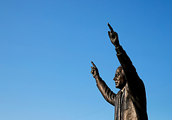 A statue of former Tranmere Rovers manager John King outside Prenton Park - Mandatory by-line: Matt McNulty/JMP - 12/07/2017 - FOOTBALL - Prenton Park - Birkenhead, England - Tranmere Rovers v Liverpool - Pre-season friendly