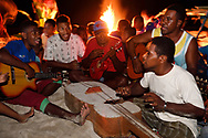 """People in the Jeng sa Wayi village, Raja Ampat, Western Papua, Indonesian controlled New Guinea, on then Science et Images """"Expedition Papua, in the footsteps of Wallace"""", by Iris Foundation"""