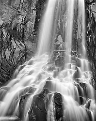 South Clear Creek Falls, soft and close, near Creed, Colorado