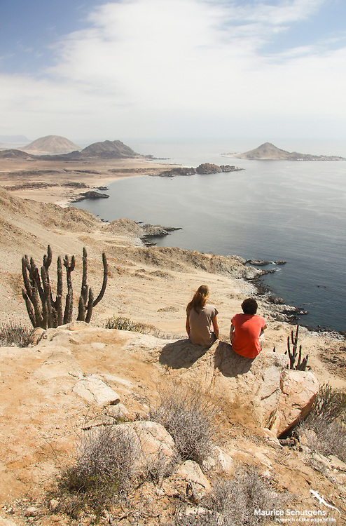 Looking over Chile's rugged coastline in Pan de Azucar National Park.