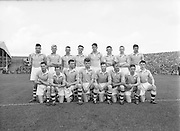 Dublin team before the All Ireland minor Gaelic Football Final Dublin v Tipperary in Croke park on 25th September 1955. Dublin 4-04, Tipperary 2-07.
