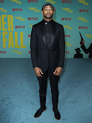 Actor Kevin Phillips arrives at the Los Angeles Premiere Of Netflix's 'The Harder They Fall' held at the Shrine Auditorium and Expo Hall on October 13, 2021 in Los Angeles, California, United States. Photo by Xavier Collin/Image Press Agency/ABACAPRESS.COM