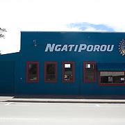 The now closed Blue Ngati Porou Tourism office in main street, Ruatoria, East Cape Road, New Zealand. 19th January 2010. Photo Tim Clayton  .