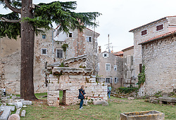 THEMENBILD - alte Häuser und Ruinen in der Altstadt, aufgenommen am 25. Juni 2018 in Porec, Kroatien // old houses and ruins in the old town, Porec, Croatia on 2018/06/25. EXPA Pictures © 2018, PhotoCredit: EXPA/ JFK