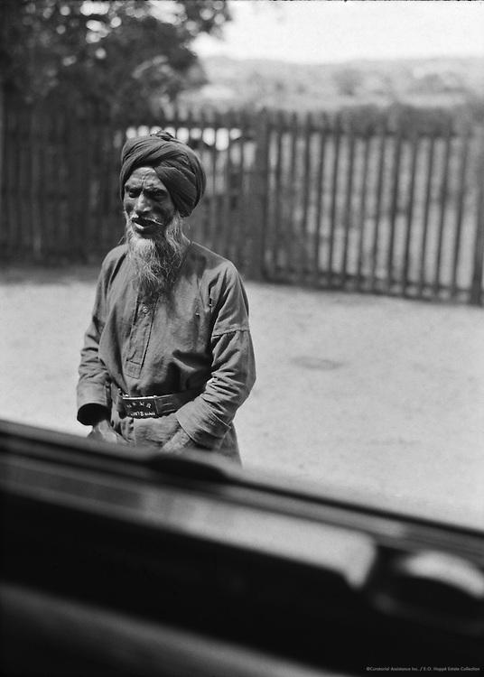A Railway Pointsman, Hospet Railway Station, India, 1929