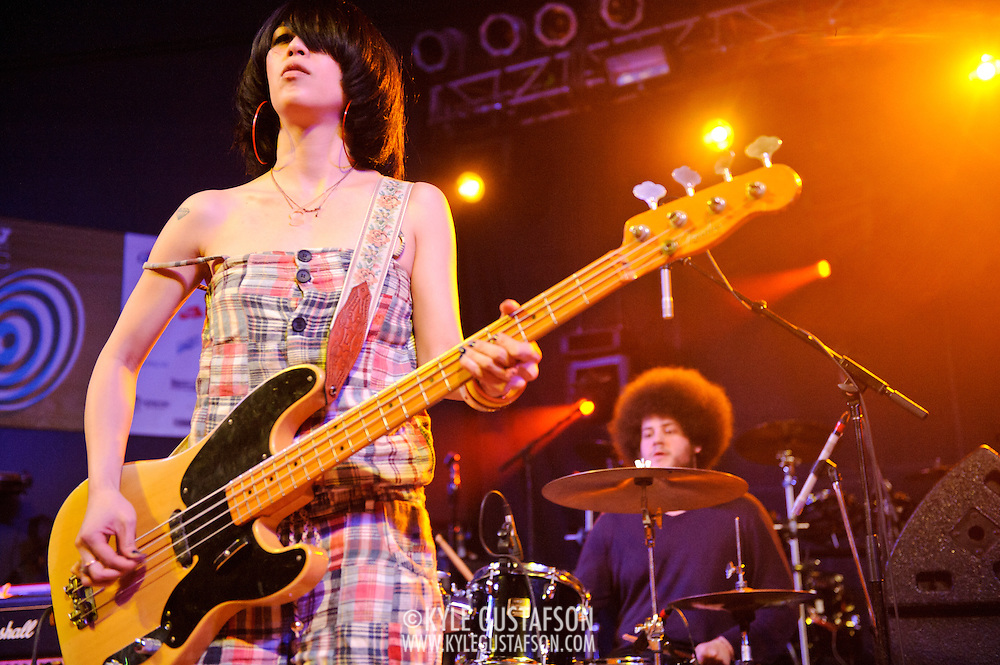 AUSTIN, TX - March 16th: British band Yuck perform at the NPR Music showcase at Stubb's as part of the 2011 South by Southwest Festival. (Photo by Kyle Gustafson)