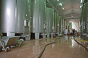 Fermentation tanks. Chateau Cote de Montpezat, Bordeaux, France
