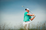Rory McIlroy watches his tee shot on the 16th hole during the second round of the 2017 U.S. Open at Erin Hills in Erin, Wis. on Friday, June 16, 2017. (Copyright USGA/Darren Carroll)