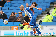 Bruno Saltor, Brighton defender during the Sky Bet Championship match between Brighton and Hove Albion and Wolverhampton Wanderers at the American Express Community Stadium, Brighton and Hove, England on 14 March 2015.
