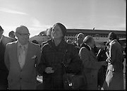 Princess Grace Arrives For The Theatre Festival. (M96)..1979..18.10.1979..10.18.1979..18th October 1979..Today saw the arrival of Princess Grace of Monaco,formerly the actress Grace Kelly,to Dublin to attend the Dublin Theatre Festival. The images show her arrival at Dublin Airport..Image shows Princess Grace being escorted to the V.I.P.lounge at Dublin Airport.