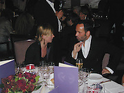 Kate Moss and Tom Ford, David Bailey dinner hosted by Lucy Yeomans at Gordon Ramsay at Claridge's. 12 November 2001. © Copyright Photograph by Dafydd Jones 66 Stockwell Park Rd. London SW9 0DA Tel 020 7733 0108 www.dafjones.com