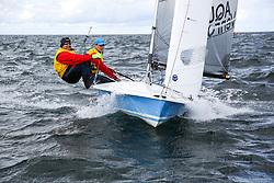 , Kiel - SAP 505er World Championship 2014, 505er, GER 8744, Lutz KANDZIA, John CHRISTIANSEN, Akademischer Segler-Verein Hamburg e. V