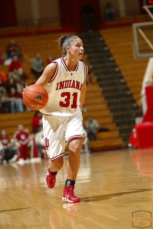 11 January 2007:  Indiana's Leah Enterline (31) as the Indiana Hoosiers played the Iowa Hawkeyes in a college basketball game  in Bloomington, Ind.. Iowa Won 71-67.