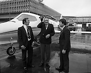 Smurfit Jet First Flight <br /> 02/09/1974  Inaugural Flight Of New Smurfit Jet.   (H25).<br /> 1974.<br /> 02.09.1974.<br /> 09.02.1974.<br /> 2nd September 1974.<br /> Today saw the Inaugeral flight of the new Smurfit Jet. The new aircraft was pictured on the tarmac at Dublin Airport.