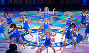 LA Clippers Spirit Dance Team cheerleaders perform during NBA All-Star Game on Sunday, Feb. 15, 2004 in Los Angeles.