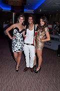 CHESKA HULL; OLLIE LOCKE; GABRIELLA ELLIS, The London Bar and Club awards. Intercontinental Hotel. Park Lane, London. 6 June 2011. <br /> <br />  , -DO NOT ARCHIVE-© Copyright Photograph by Dafydd Jones. 248 Clapham Rd. London SW9 0PZ. Tel 0207 820 0771. www.dafjones.com.