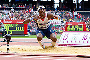 Mcc0041438 . Daily Telegraph..DT Sport..2012 Olympics.. Team GB's Phiilips Idowu fails to finish in top 12 in the Triple Jump after only reaching 16.53m ...7 August 2012....