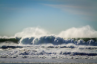 Winter swells on the coast of San Francisco produce some extraordinary waves.  These are from Ocean Beach on a late January day.
