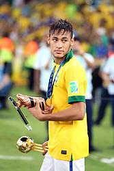 Neymar na partida do Brasil contra a Espanha, válida pela final da Confederações 2013, no estádio Maracanã, no Rio de Janeiro. FOTO: Jefferson Bernardes/Preview.com