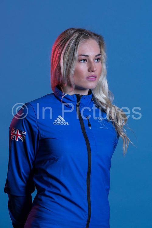 Katie Ormerod during GB Park & Pipe Winter Olympic official Adidas kitting out day on 24th January 2018 in Stockport, United Kingdom.