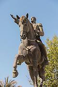 Equestrian statue of Simon Bolivar in Cadiz, Spain