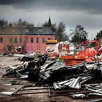 Nederland.Heikant.31 januari 2008..Een aantal Carnaval praalwagens is in vlammen opgegaan in een loods in het Zeeuwse plaatsje Heikant in de gemeente Hulst.