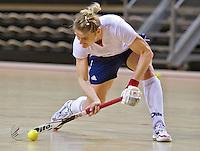 ALMERE - Training Nederlands Zaalhockeyteam dames  voor WK in Polen. Aanvoerder Marieke Dijkstra. ANP COPYRIGHT KOEN SUYK