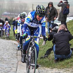 Sportfoto archief 2013<br /> Omloop Het Nieuwsblad women problems Loes Gunnewijk 2012 winner of the race