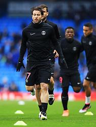 Maxwell of PSG warms up - Mandatory byline: Matt McNulty/JMP - 07966386802 - 12/04/2016 - FOOTBALL - Etihad Stadium -Manchester,England - Manchester City v Paris Saint-Germain - UEFA Champions League - Quarter Final Second Leg
