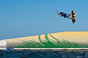 Outerbanks, NC - James Boulding  kiteboarding at the Triple-S 2011