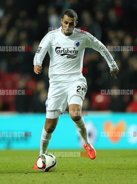 Youssef Toutouh of FC København in action during the Danish DBU Pokalen Cup match between FC København and Randers FC at Telia Parken on March 5, 2015 in Copenhagen, Denmark. (Photo by Claus Birch)