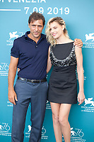 Venice, Italy, 31st August 2019, Adriano Giannini and Micaela Ramazzotti at the photocall for the film Vivere (To Live) at the 76th Venice Film Festival, Sala Grande. Credit: Doreen Kennedy/Alamy Live News