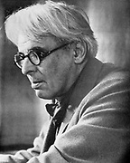 William Butler Yeats  (1865-1939) in later life. Half-tone. Black-and-white