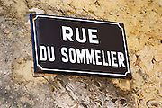street sign rue du sommelier chateauneuf du pape rhone france