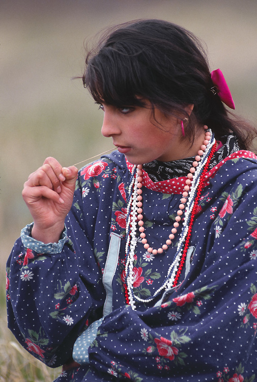 Native dancer, Village of Sireniki, Chukotsk Peninsula, Northeast Russia