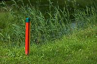 ALMERE  - roodgroene paal . , Golf, regels,    COPYRIGHT KOEN SUYK
