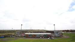 A general view of the PTS Academy Stadium, home of Northampton Town - Mandatory by-line: Joe Dent/JMP - 10/10/2020 - FOOTBALL - PTS Academy Stadium - Northampton, England - Northampton Town v Peterborough United - Sky Bet League One