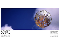 Neil Dawson's Sculpture 'Ferns' (aka the Fern Ball) at Civic Square, Wellington, New Zealand.