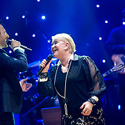 Marinella with Kostas Karafotis the famous greek singer, perform at the issanat concert hall in Istanbul, Turkey, 18 April 2013. Photo by TURKPIX