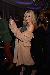 Pixie Lott at the official launch of The Perception at W London, 10 Wardour Street, London England. 7 November 2017.<br /> Photo by Dominic O'Neill/SilverHub 0203 174 1069 sales@silverhubmedia.com