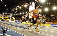 Photo: Richard Lane.<br />Norwich Union International, Glasgow. 27/01/2007. <br />Craig Pickering of Great Britain wins athe mens 60m.
