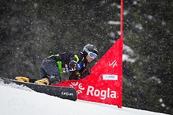 Radoslav Yankov (BUL) competes during Qualification Run of Men's Parallel Giant Slalom at FIS Snowboard World Cup Rogla 2016, on January 23, 2016 in Course Jasa, Rogla, Slovenia. Photo by Ziga Zupan / Sportida