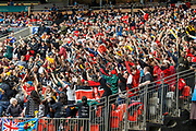 VANCOUVER, BC - MARCH 11: Kenya crowd exhorting their team on during Game # 40- United States vs Kenya Cup SF 2 match at the Canada Sevens held March 10-11, 2018 in BC Place Stadium in Vancouver, BC. (Photo by Allan Hamilton/Icon Sportswire)