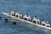 London, United Kingdom. Siegburger Rv [GER].  from Barnes Rail Bridge. 2014 Women's Head of the River Race. Chiswick to Putney, River Thames.  Saturday  15/03/2014    [Mandatory Credit; Peter Spurrier/Intersport-images]