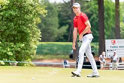 May 4, 2019 - Charlotte, NC, U.S. - CHARLOTTE, NC - MAY 04: Martin Laird reacts to his putt on the green during the third round of the Wells Fargo Championship at Quail Hollow on May 4, 2019 in Charlotte, NC. (Photo by William Howard/Icon Sportswire) (Credit Image: © William Howard/Icon SMI via ZUMA Press)