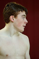 Sam Thornton of City of Leeds Diving Club looks on during the Mens 1m Synchronised Springboard Final - Photo mandatory by-line: Rogan Thomson/JMP - 07966 386802 - 20/02/2015 - SPORT - DIVING - Plymouth Life Centre, England - Day 1 - British Gas Diving Championships 2015.