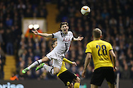 Ben Davies of Tottenham Hotspur appeals for a foul. UEFA Europa League round of 16, 2nd leg match, Tottenham Hotspur v Borussia Dortmund at White Hart Lane in London on Thursday 17th March 2016<br /> pic by John Patrick Fletcher, Andrew Orchard sports photography.